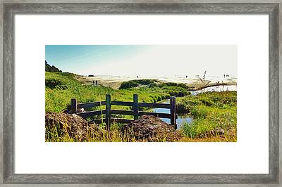 Oregon Beach 1 Framed Print by Larry Campbell