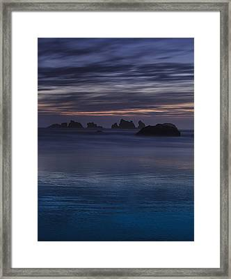 Oregon Coast After Sunset Framed Print