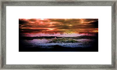 Ocean Framed Print featuring the photograph Ocean Storm by Aaron Berg