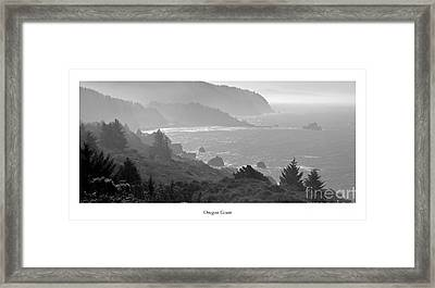 Oregon Coast In Black And White Framed Print