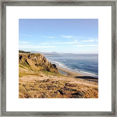 Oregon Coast #iphone5 #instagramers Framed Print