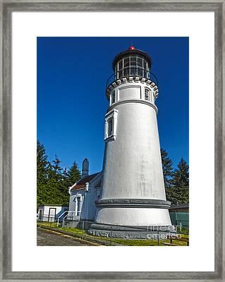 Oregon Coast - Light House Framed Print by Gregory Dyer