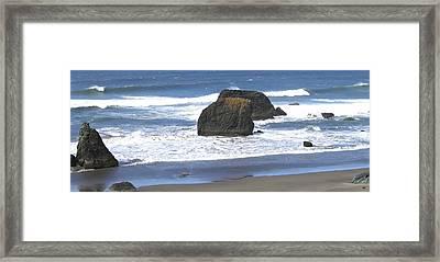 Oregon Coast Panorama Framed Print by Will Borden