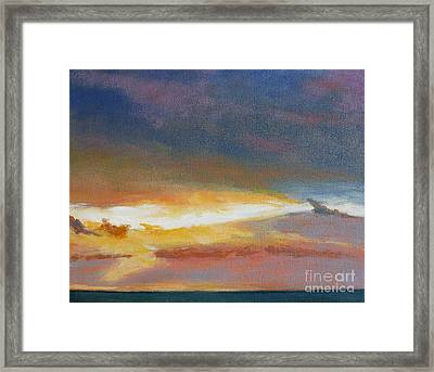 Oregon Coast Sunset Framed Print by Melody Cleary