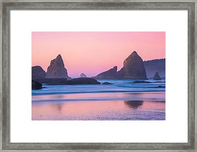Oregon Coast Twilight Framed Print by Darren  White