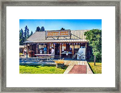 Oregon Country Store Framed Print by Bob and Nadine Johnston