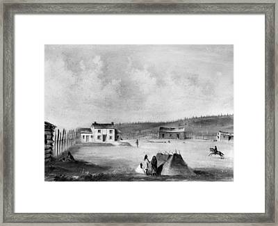 Oregon Dalles Mission Framed Print