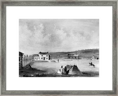 Oregon Dalles Mission Framed Print