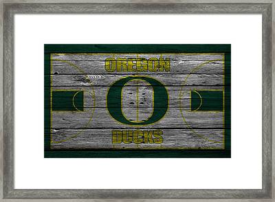 Oregon Ducks Framed Print by Joe Hamilton