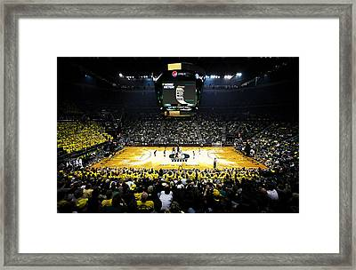 Oregon Ducks Matthew Knight Arena Framed Print