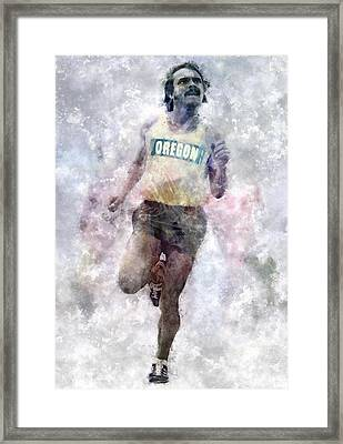 Oregon Ducks Steve Prefontaine Framed Print