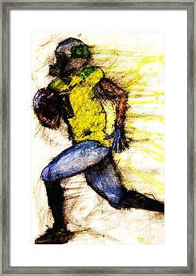 Oregon Football 2 Framed Print by Michael Cross