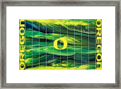 Oregon Football Framed Print by Michael Cross