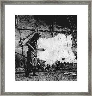 Oregon Hide Scraping, 1939 Framed Print by Granger