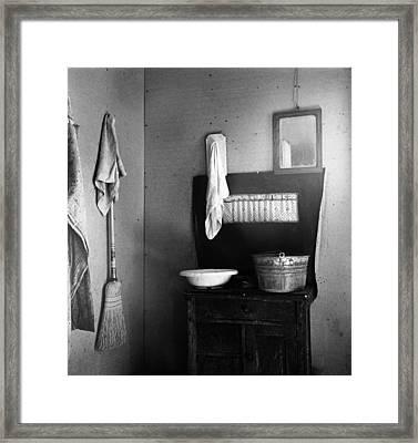 Oregon Kitchen, 1939 Framed Print by Granger