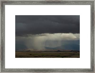 Oregon Rain Framed Print