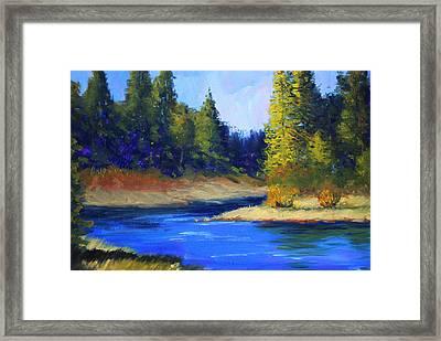 Oregon River Landscape Framed Print