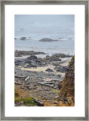 Oregon Rocks Framed Print by Shauna Fackler