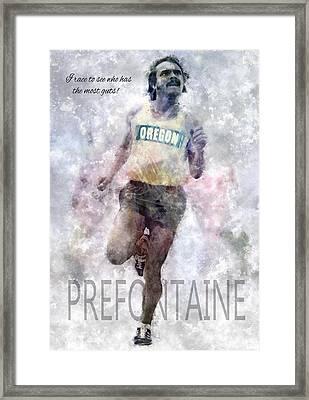 Oregon Running Legend Steve Prefontaine Framed Print by Daniel Hagerman