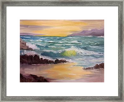 Oregon Seascape Framed Print by Larry Hamilton