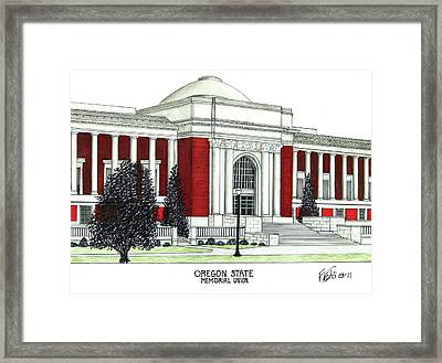 Oregon State Framed Print by Frederic Kohli