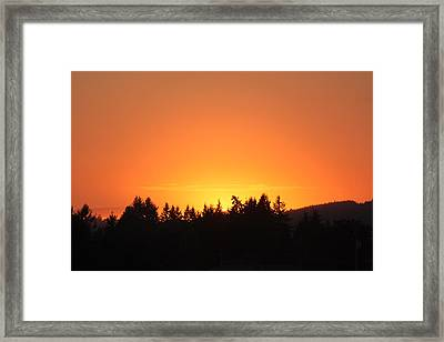 Oregon Sunset Framed Print by Melanie Lankford Photography