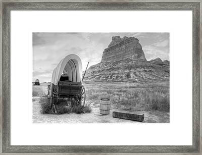 Oregon Trail At Scottsbluff National Monument Framed Print by Geraldine Alexander