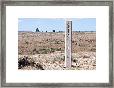 Oregon Trail Marker Framed Print by Cindy Singleton