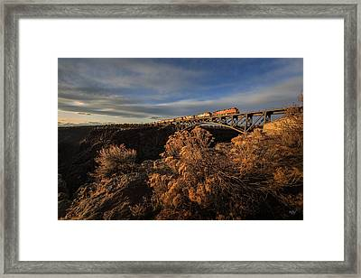 Oregon Trunk Rr Framed Print by Everet Regal