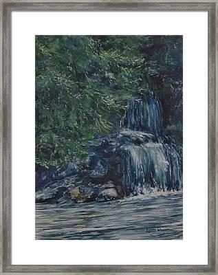 Oregon Waterfall Framed Print