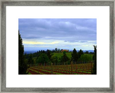 Framed Print featuring the photograph Oregon Wine Country by Debra Kaye McKrill