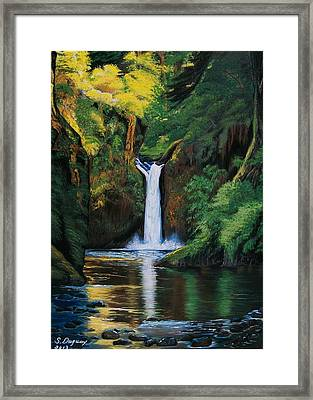 Oregon's Punchbowl Waterfalls Framed Print