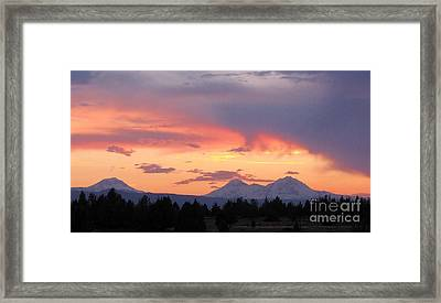 Oregon's Three Sisters  Framed Print by Michele Penner