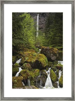 Oregon's Watson Falls Framed Print by Andrew Soundarajan
