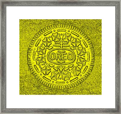 Oreo Chrome Yellow Framed Print by Rob Hans