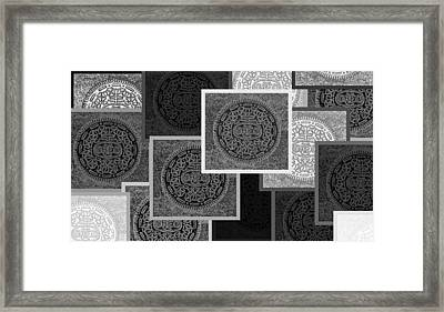 Oreo Collage Colors Black And White Framed Print by Rob Hans