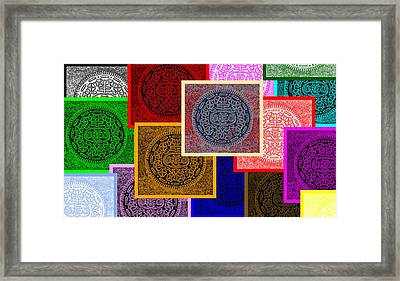 Oreo Collage Colors Framed Print by Rob Hans