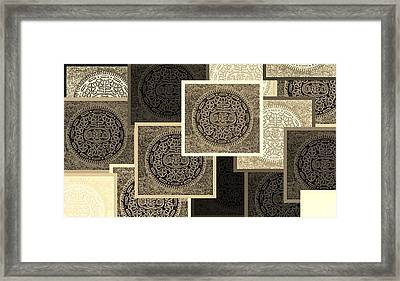 Oreo Collage Colors Sepia Framed Print by Rob Hans