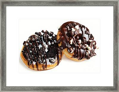 Oreo Cookie - Chocolate Chip - Donuts - Bakery Framed Print by Andee Design