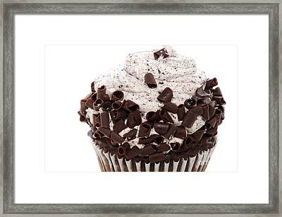Oreo Cookie Cupcake 2 Framed Print by Andee Design
