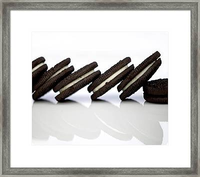 Oreo Cookies Framed Print by Juli Scalzi