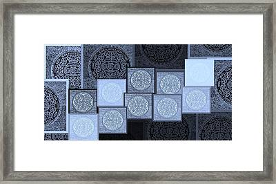 Oreo Hope Collage 2 Cyan Framed Print by Rob Hans