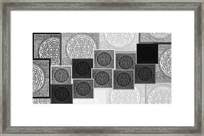 Oreo Hope Collage Black And White Framed Print by Rob Hans