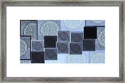 Oreo Hope Collage Cyan  Framed Print by Rob Hans