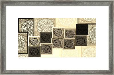 Oreo Hope Collage Sepia Framed Print by Rob Hans
