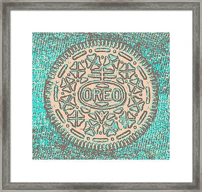 Oreo In Negative Hope 14 Framed Print by Rob Hans