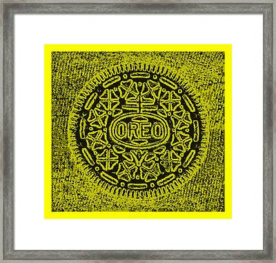 Oreo Hope Yellow Framed Print by Rob Hans