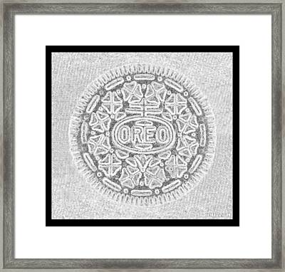 Oreo In Grey Framed Print by Rob Hans