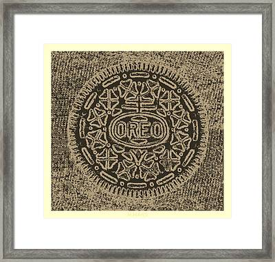 Oreo In Hope Sepia Framed Print by Rob Hans