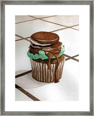 Oreo Mint Framed Print by Celestrya Sweets
